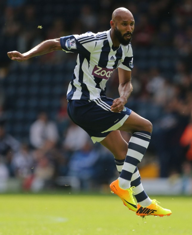 West Bromwich Albion's Nicolas Anelka during the Pre-season Friendly at The Hawthorns, West Bromwich. PRESS ASSOCIATION Photo. Picture date: Saturday August 10, 2013. See PA story SOCCER WBA. Photo credit should read: Nick Potts/PA Wire. RESTRICTIONS: Editorial use only. Maximum 45 images during a match. No video emulation or promotion as 'live'. No use in games, competitions, merchandise, betting or single club/player services. No use with unofficial audio, video, data, fixtures or club/league logos.