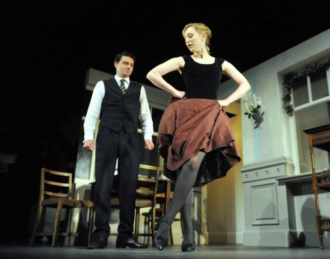 A Doll's House at The Duke of York's Theatre Hattie Morahan as Nora, Dominic Rowan as Torvald ©Alastair Muir