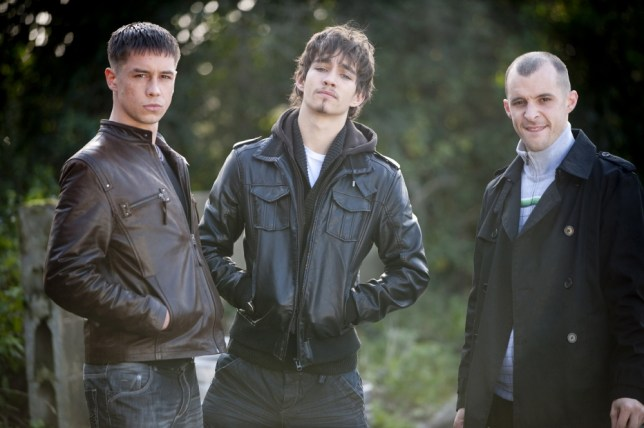 Killian Scott, Robert Sheehan and Tom Vaughan Lawlor in Love/Hate (Picture: Channel 5)