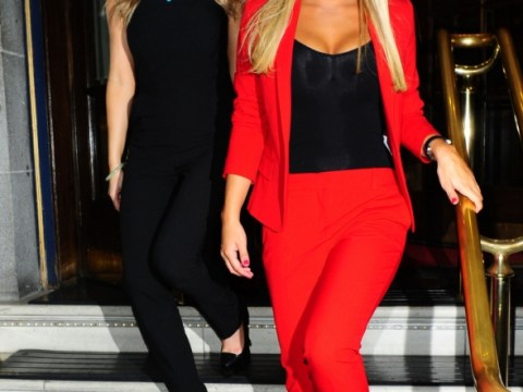 The Only Way Is Essex's Sam Faiers is a vision in red as she parties with Gemma Merna