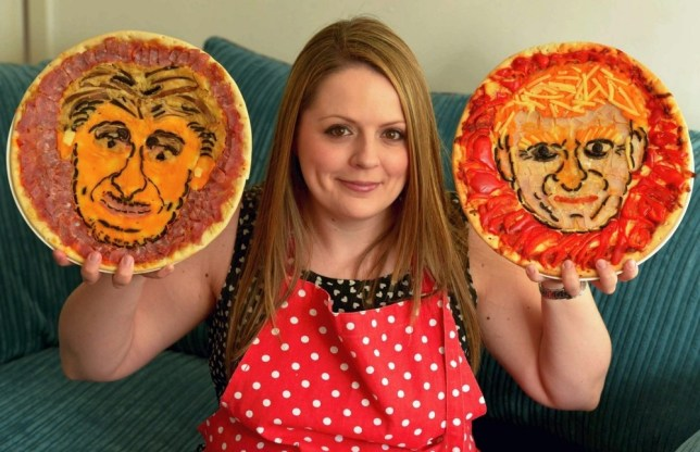 MEN SYNDICATION.. Food artist Lucy Whitaker, 28, from Stockport, Greater Manchester, who has been making pizzas with the faces of Man City and Man United managers on them. The pizzas are now being sold by Asda... SEE STORY.. Pic from MEN Syndication.. .. Mitchell Henry House.. Hollinwood Avenue.. Chadderton.. Oldham.. OL9 8EF.. syndication@men-news.co.uk
