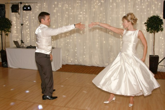 Nathan Stephens, 25, A bridegroom who had lost his legs under a train stunned his wedding guests by dancing for the first time, with his new bride, Charlene Beard, 26. Nathan from Bridgend, South Wales has competed in the Paralympic Games for Great Britain © Wales News Service