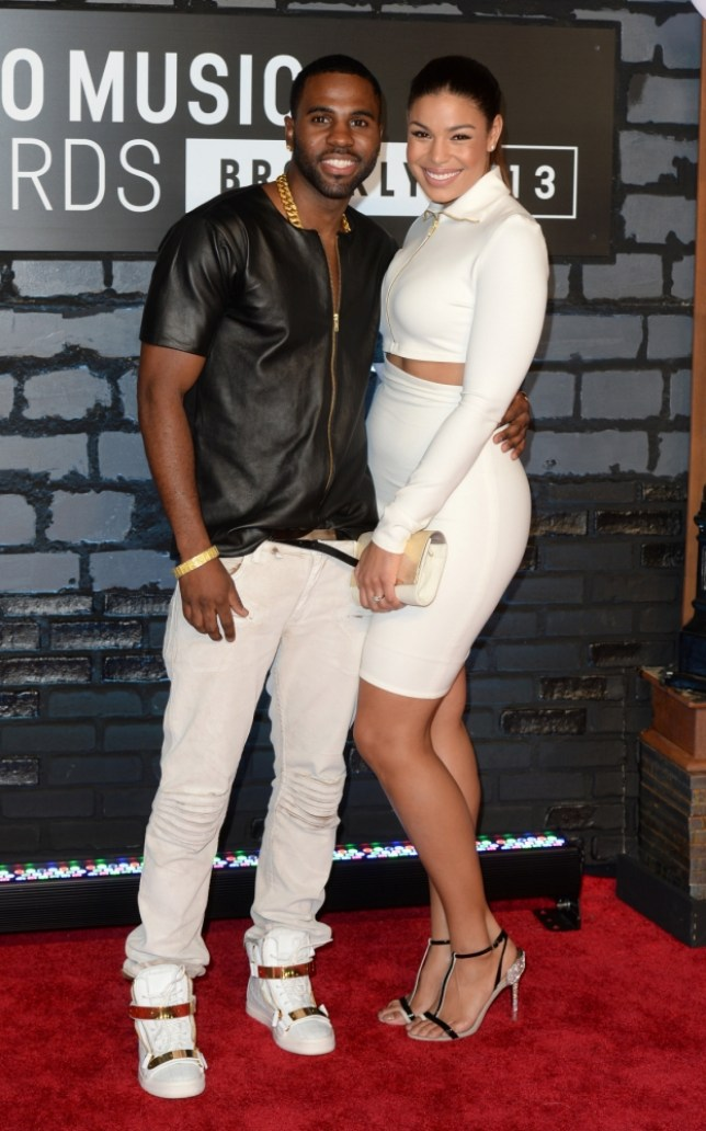 Jordin Sparks and Jason Derulo arriving at the MTV Video Music Awards 2013, The Barclay Centre, Brooklyn, New York. (Picture: PA)
