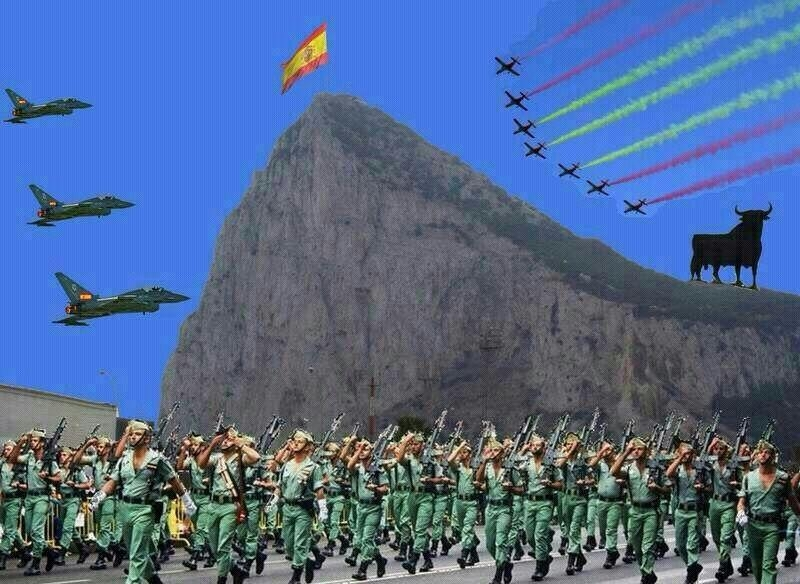 Spanish mayor under fire over mock Gibraltar invasion pictures on Facebook