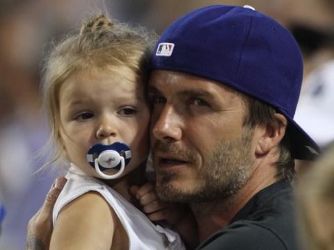 David Beckham reveals Harper's football prowess