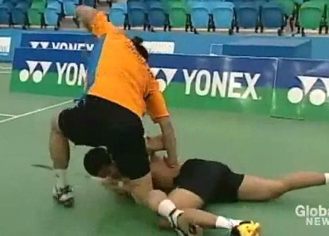 Badminton star banned for two years for vicious on-court assault on rival – VIDEO