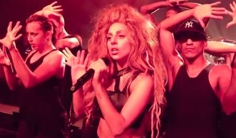 Lady Gaga writhes in her smalls as she rehearses Sex Dreams ahead of iTunes festival gig