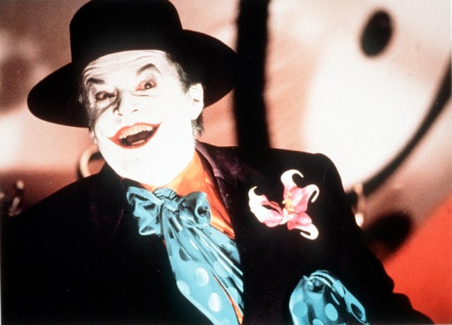 Jack Nicholson in a scene from the film 'Batman', 1989.  JACK NICHOLSON delivers a virtuoso performance as the evil Joker in Tim Burton's directorial tour de force from 1989.     Copyright: Channel 5 Broadcasting  Channel 5 Stills: 0171 550 5546/5583/5509/5544/5501  Free for editorial press and listings use in connection   with the current broadcast of Channel 5 Programmes only.  This image may be reproduced with written consent of Channel 5.  Not for any form of advertising, internet use or in connection   with the sale of any product.  Please note that this image may ONLY be reproduced with the written consent of Channel 5.