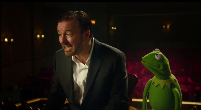 Ricky Gervais stars in first Muppets Most Wanted teaser trailer