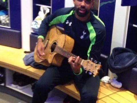 Sandro entertains Tottenham team-mates with guitar ditty