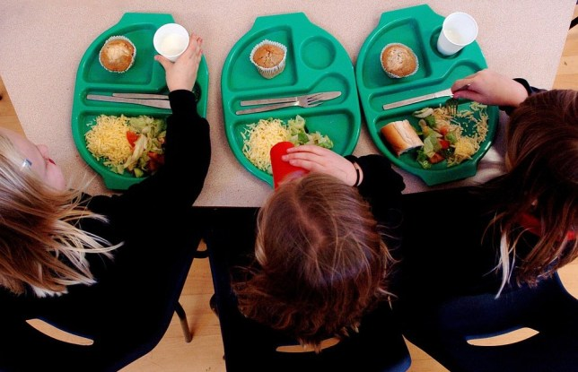 File photo dated 08/03/07 of a generic picture of pupils enjoying school dinners as concerns were being raised today about the Government's ability to afford a £1 billion giveaway handing all children under eight free school meals alongside a tax break for married couples. PA Wire/Press Association Images