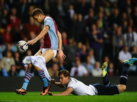 Jan Vertonghen pulls down Nicklas Helenius' pants in Spurs' win over Aston Villa