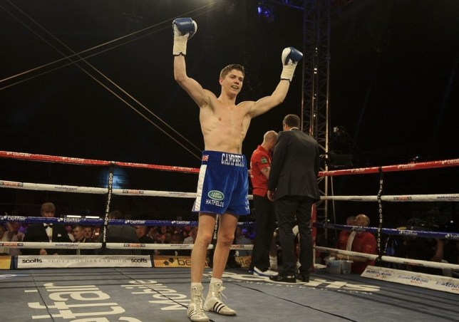 Luke Campbell celebrates beating Andrew Harris in their Bantamweight bout at Craven Park Stadium, Hull. PA Wire/Press Association Images
