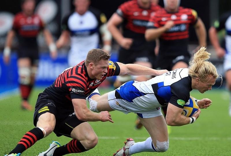 Saracens boss Mark McCall hails Chris Ashton as Bath are halted