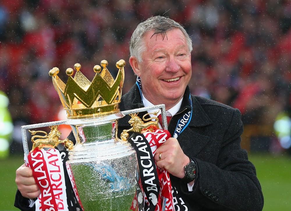 Sir Alex Ferguson with the Premier League trophy (Picture: Getty)