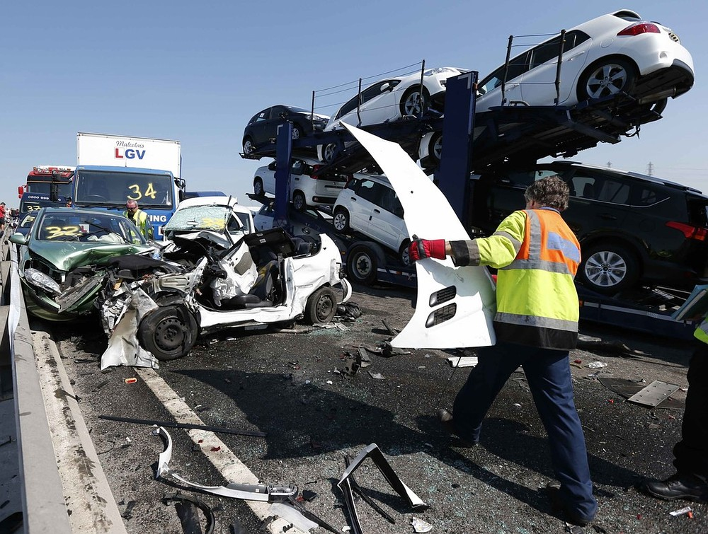 Sheppey crash: Police hail miracle as no one dies in horror 130-car pile-up