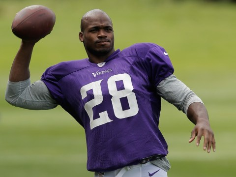 Adrian Peterson ready to make hard yards as the NFL comes to Wembley
