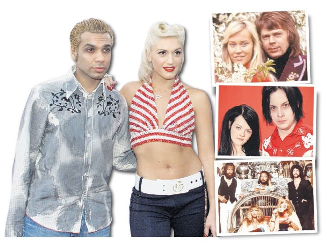 Tony Kanal and Gwen Stefani, Agnetha Fältskog and Björn Ulvaeus, Meg and Jack White and Fleetwood Mac (Pictures: Reuters, Redferns and Allstar)