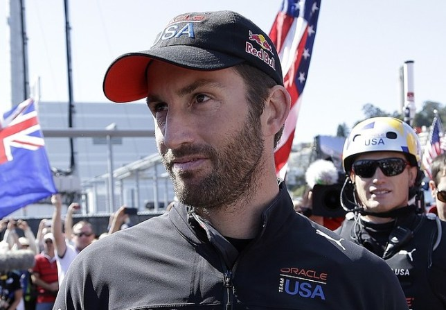 Glorious: Ainslie is the first Briton to win an Olympic gold medal and the America's Cup (Picture: AP)