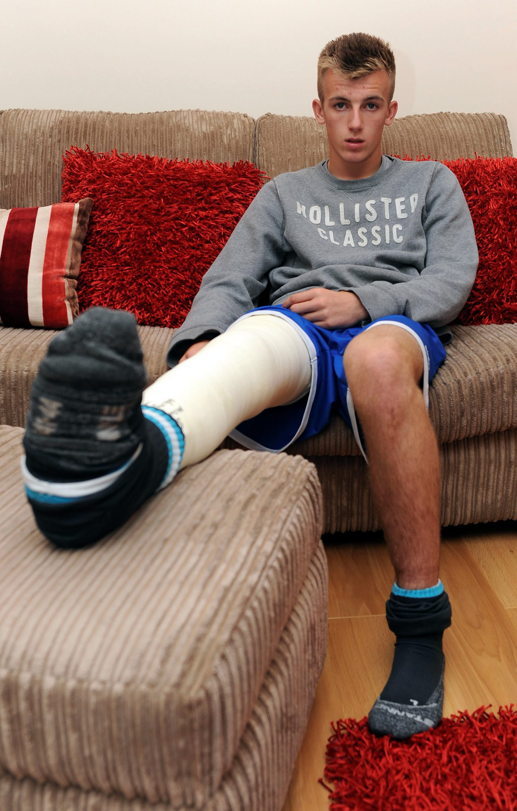 Referee facing disciplinary action after making fun of teenager who broke leg during match