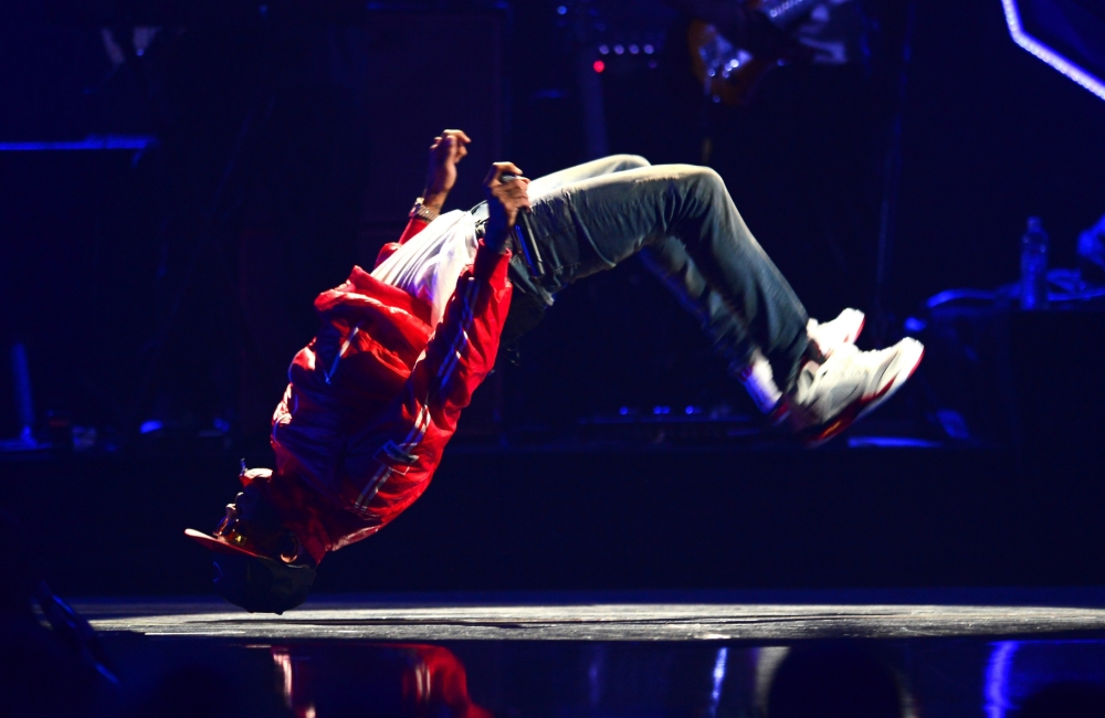 Singer Chris Brown performs onstage during the iHeartRadio Music Festival at the MGM Grand Garden Arena on September 20, 2013 in Las Vegas, Nevada. (Picture: Getty))