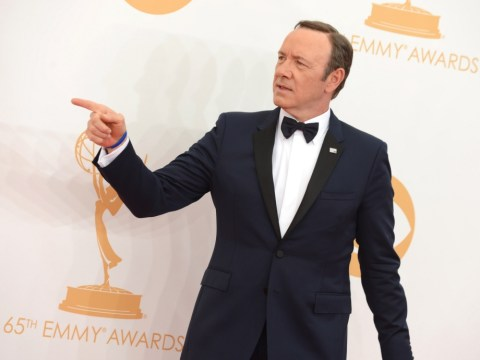 Kevin Spacey slaps camera at the Emmys