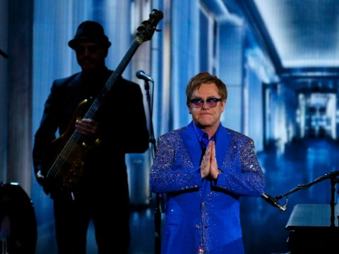 Sir Elton John left bemused by Emmys autocue during Liberace tribute