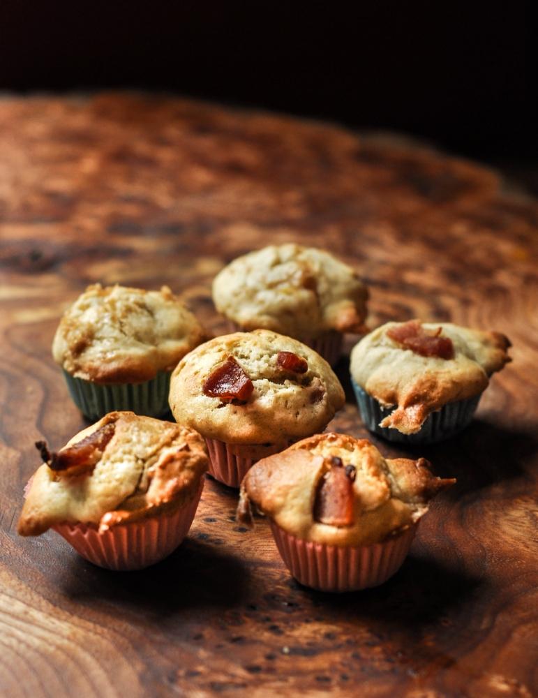 Recipe: Banana and bacon mini muffins