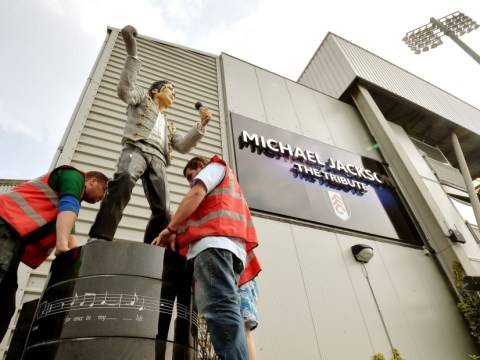 You know it's driller, driller night! Workmen dismantle and cart off Michael Jackson statue at Fulham