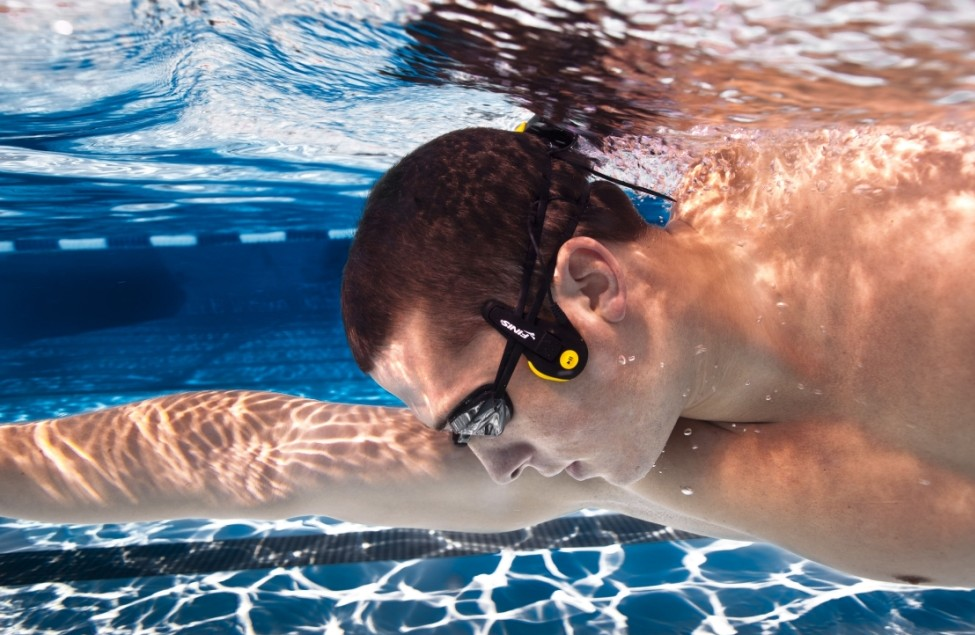 New 'dolphin' headphones allow swimmers to listen to music underwater