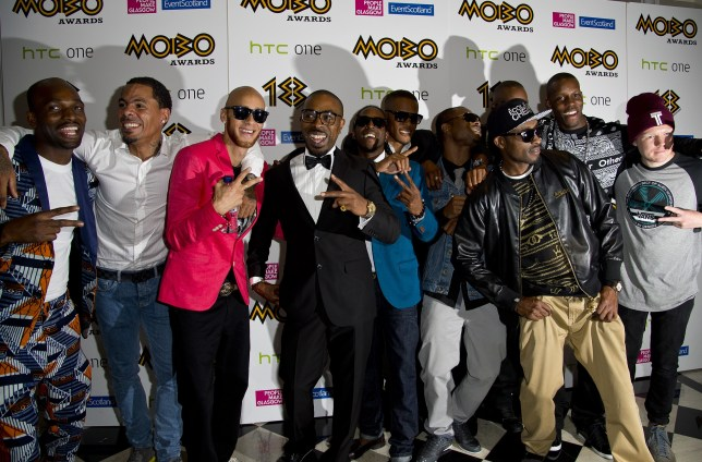 Back: So Solid Crew made a return to music at the 2013 MOBO awards (Picture: Ben A. Pruchnie/Getty Images)