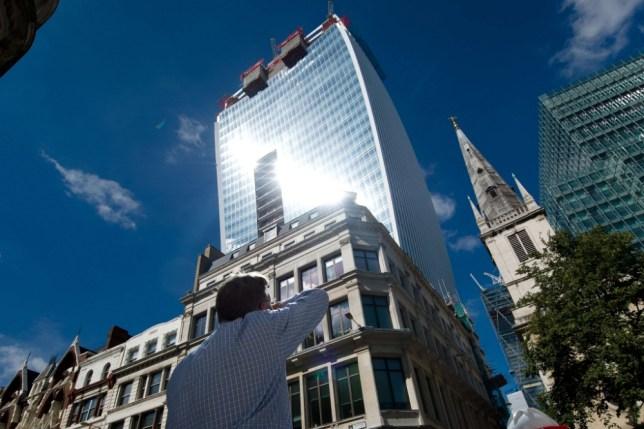 Beam of light from Walkie Talkie skyscraper 'melts man's Jaguar'