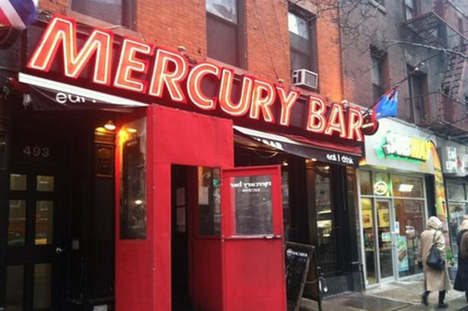The incident happened at the Mercury Bar in Manhattan