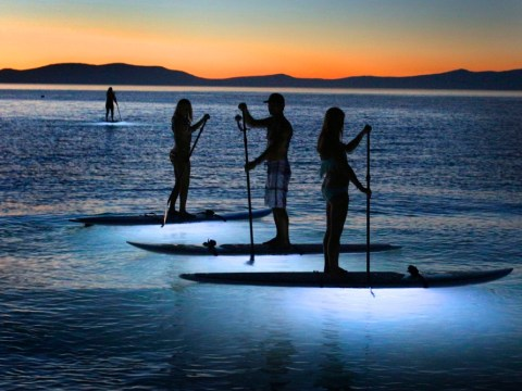Bright idea lifts paddle boarders out of the dark ages