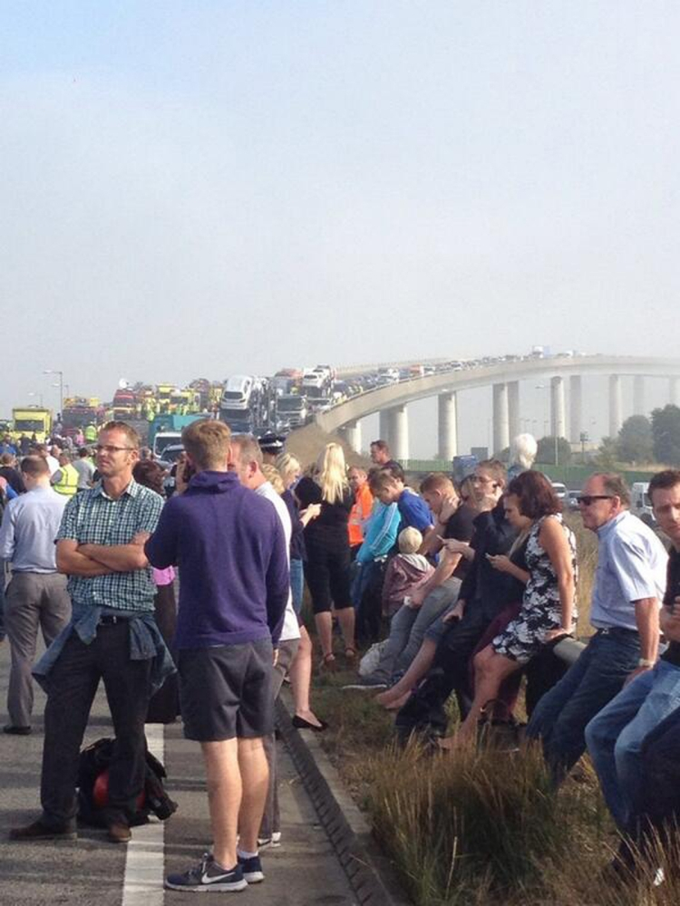 Gallery: Isle of Sheppey Crossing crash
