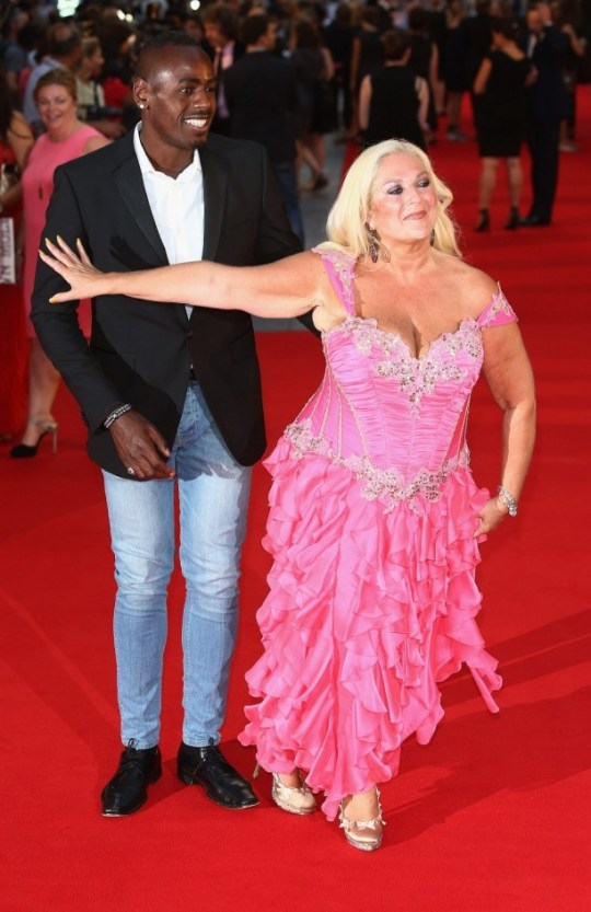"LONDON, ENGLAND - SEPTEMBER 05:  Vanessa Feltz and Ben Ofoedu attend the World Premiere of ""Diana"" at Odeon Leicester Square on September 5, 2013 in London, England.  (Photo by Tim P. Whitby/Getty Images)"