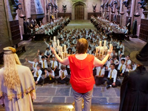 First assembly in Hogwarts' Great Hall gets year 7s excited about new school year