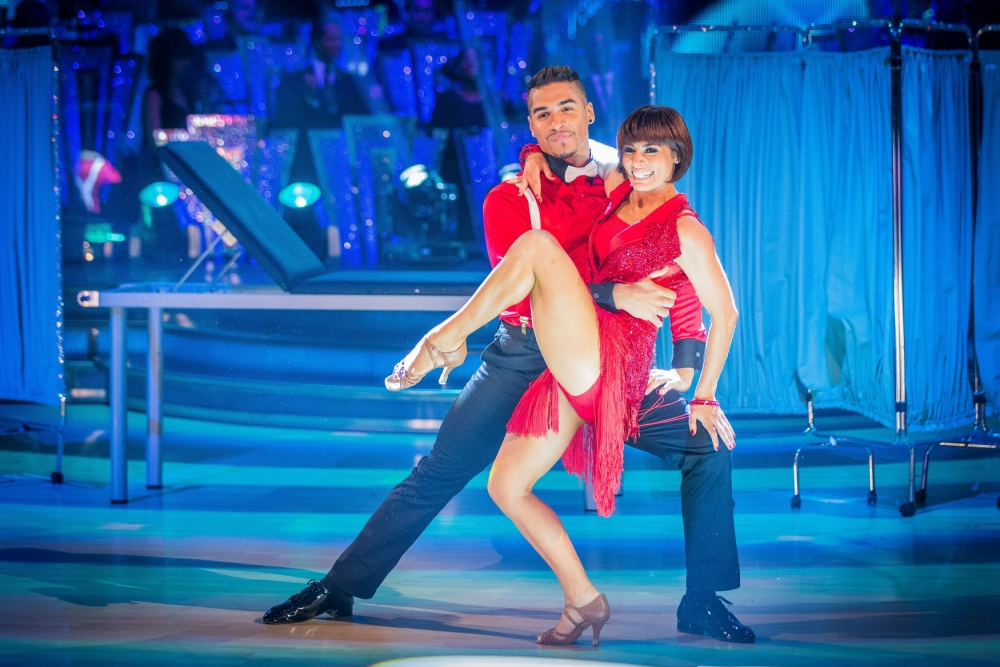 For use in UK, Ireland or Benelux countries only. Handout photo issued by the BBC of Louis Smith performing with Flavia Cacace on Strictly Come Dancing. PRESS ASSOCIATION Photo. Issue date: Saturday September 7, 2013. See PA story SHOWBIZ Strictly. Photo credit should read: Guy Levy/BBC/PA Wire NOTE TO EDITORS: Not for use more than 21 days after issue. You may use this picture without charge only for the purpose of publicising or reporting on current BBC programming, personnel or other BBC output or activity within 21 days of issue. Any use after that time MUST be cleared through BBC Picture Publicity. Please credit the image to the BBC and any named photographer or independent programme maker, as described in the caption.