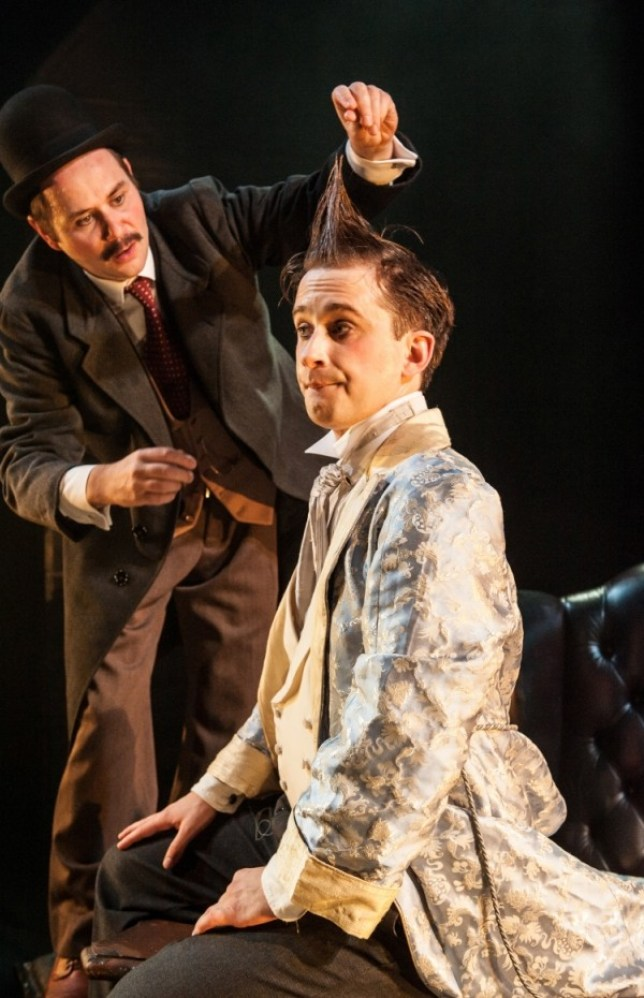 George Potts and Leander Deeny in The Secret Agent at The Young Vic (Picture: Stephen Cummiskey)