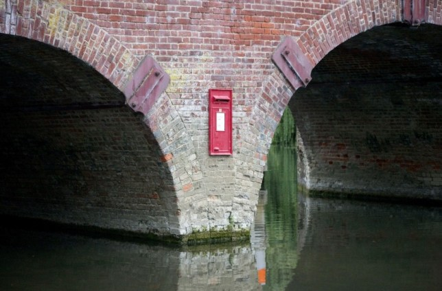 Uri Geller thinks 'ghost of mischievous little girl' may have put post box on side of bridge