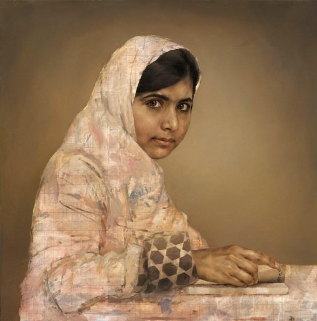 Jonathan Yeo's portrait of Malala Yousafzai, the Pakistani schoolgirl shot by the Taliban (Picture: Jonathan Yeo)