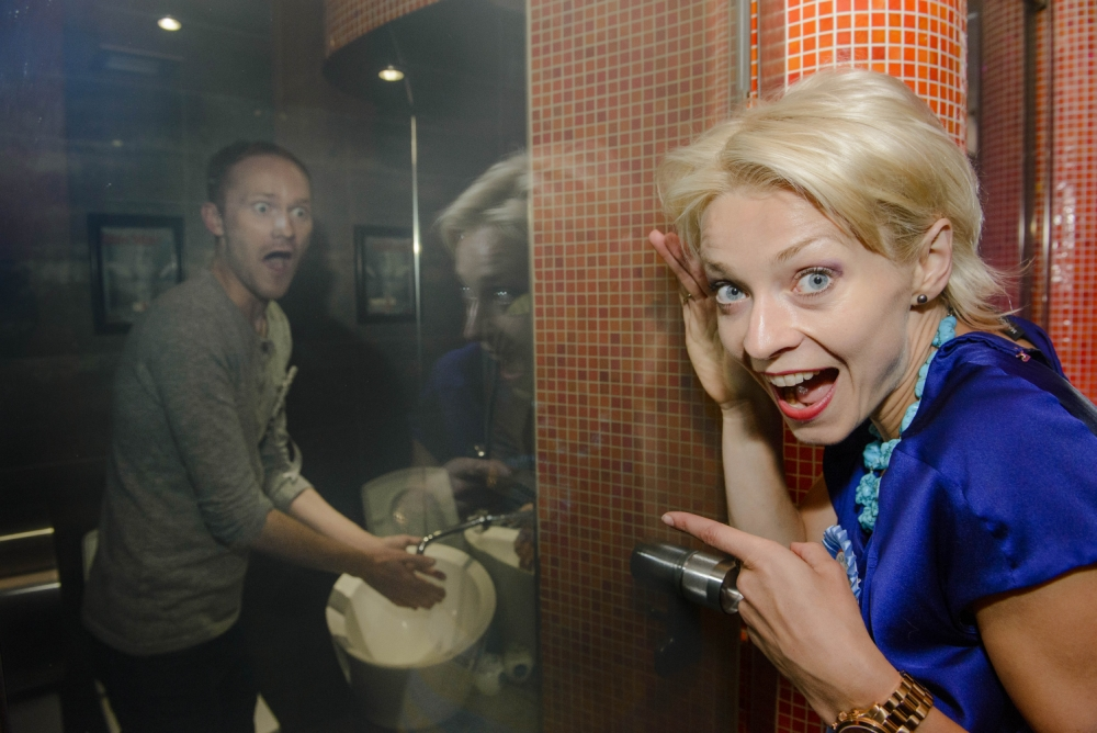 Helen Croydon joins her fellow adventurous singletons in the toilets at Aldwych's Cellar Door (Picture: José Farinha)