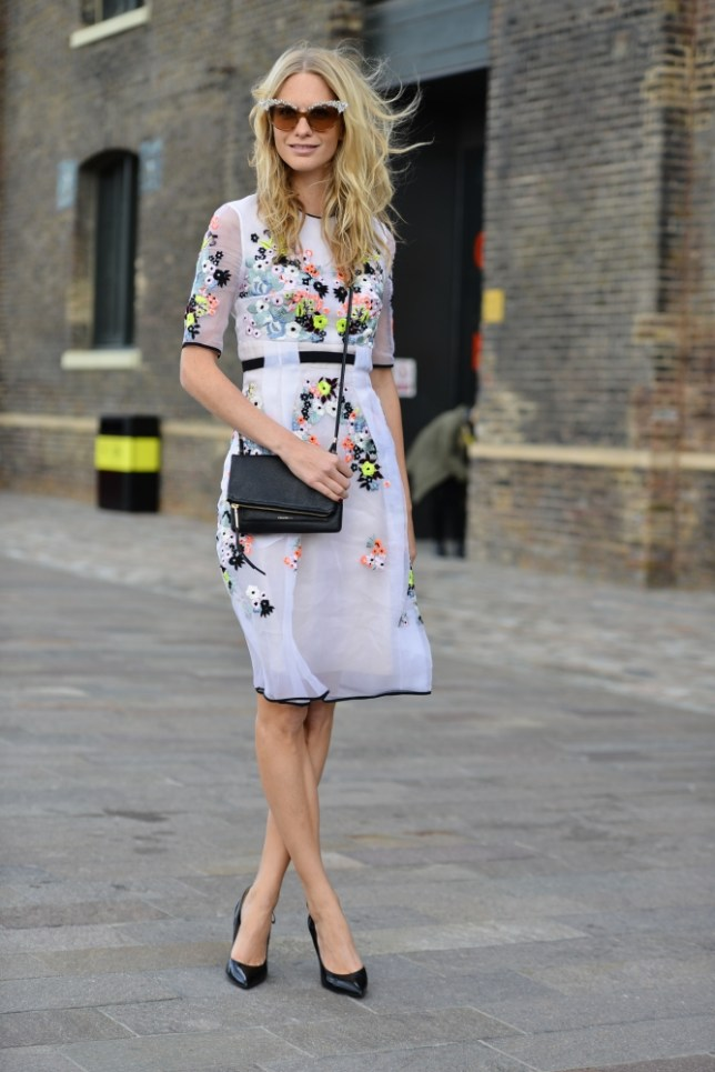 What, this old thing? Poppy Delevingne arrives at London Fashion Week SS14 in her best street style (Picture: David Nyanzi)