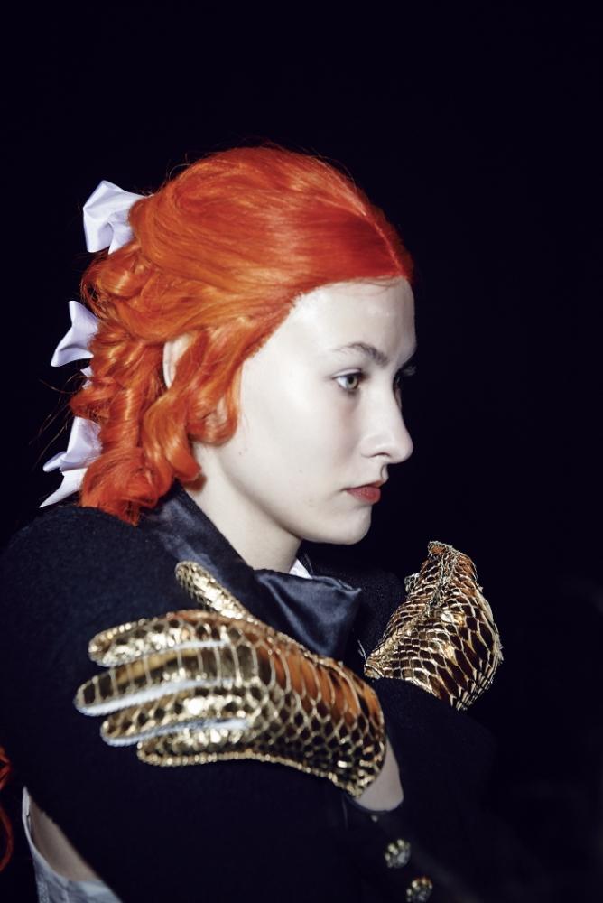 Gallery: London Fashion Week – Backstage at Meadham Kirchhoff