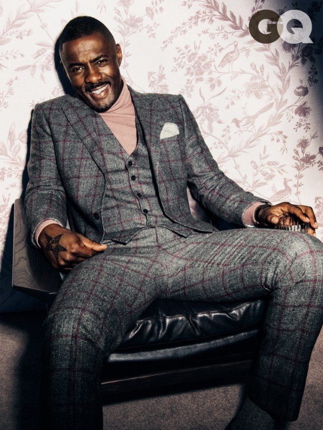 Luther actor and British-native Idris Elba for interview with GQ magazine NO FEE