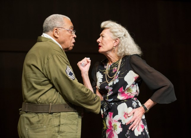 James Earl Jones (Benedict) and Vanessa Redgrave (Beatrice) in Much Ado About Nothing (Picture: Tristram Kenton)