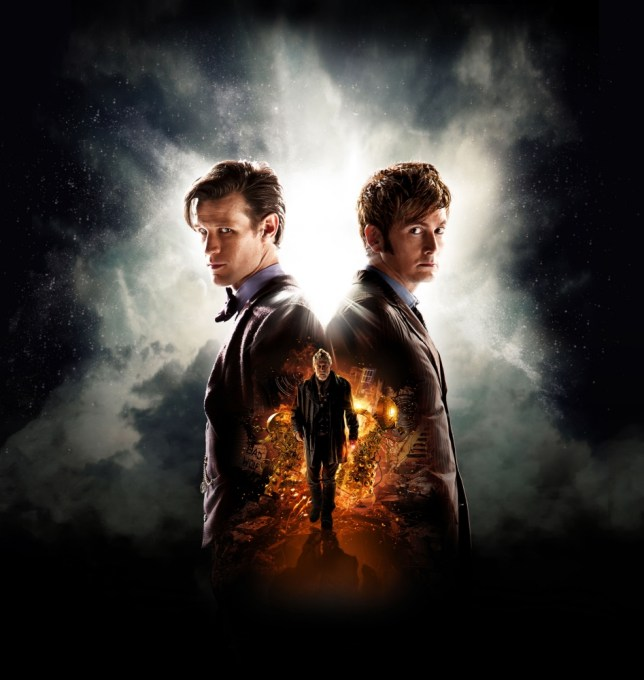 Programme Name: Doctor Who - TX: n/a - Episode: n/a (No. n/a) - Embargoed for publication until: 11/09/2013 - Picture Shows: **STRICTLY EMBARGOED FOR USE UNTIL 00:01 ON WEDNESDAY 11TH SEPTEMBER 2013**.. Iconic image for Doctor Who 50th Anniversary Special - The Day of the Doctor  - (C) BBC - Photographer: Adrian Rogers