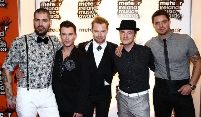 Boyzone appear in the Meteor Ireland Music Awards press room on March 17, 2009 in Dublin, Ireland.  (Photo by Phillip Massey/Getty Images)   DUBLIN, IRELAND - MARCH 17