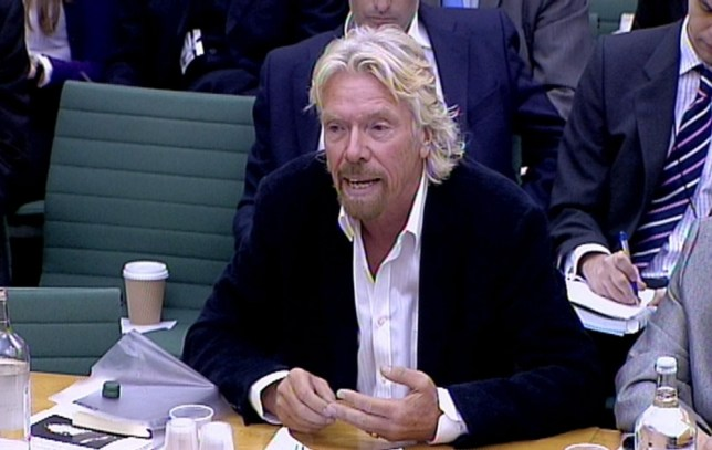 Sir Richard Branson gives evidence to Commons Home Affairs Select Committee in Portcullis House, London.  PRESS ASSOCIATION Photo. Picture date: Tuesday January 24, 2012. See PA story POLITICS Drugs. Photo credit should read: PA Wire