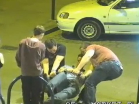 Not too tyred? Men fix bike rack at 3am after night out